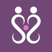Hypnobirthing Logo zeigt ein Elternpaar mit Baby